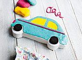 A car-shaped child's cake