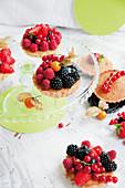 Mini berry tartlets