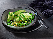 Cucumber and seaweed salad with lime dressing