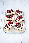 Blueberry buttermilk slices