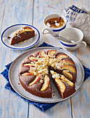Cocoa cake with apples