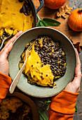Vegan Pumpkin Shepherd's Pie