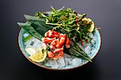 King crab sashimi