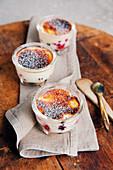 Berry curd gratin