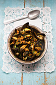 Indian spiced mussels