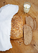 Ayran bread with oats