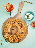Tex-Mex bread wreath