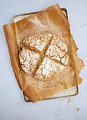 Dark sourdough bread (vegan)
