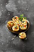 Spargel-Blätterteig-Minimuffins