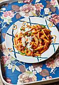 Cavatelli with salsiccia, nduja and mascarpone (Italy)