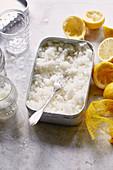 Granita al limone - lemon granita from Sicily