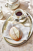 Maritozzi - Stuffed yeast rolls from Latium