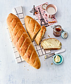 Baguette, selbst gebacken