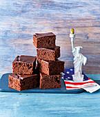 Double choc brownies
