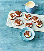 Chocolate cookies decorated with a fox face