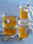 Golden lemon marmelade with lavender