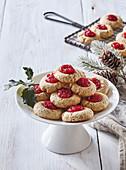 Jam filled Christmas cookies