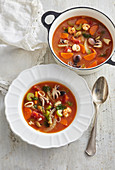 Italian fish soup with white wine