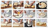 preparing bun dumplings