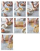 Preparing broad noodles