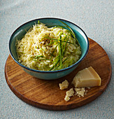 Leek risotto with parmesan