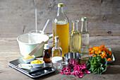 Zutaten zur Herstellung von Salben und Cremes