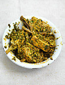 Indian spiced and marinated lamb