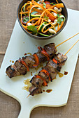 Beef skewers with zoodles