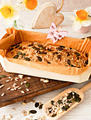 Pumpkin seed bread with sunflower seeds