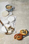 Hausgemachter, veganer Cashew-'Camembert'
