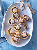 Christmas cookies with dried plums and nuts