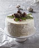 Christmas coconut tart (gateau)