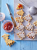 Linzer poppy seed cookies (Christmas trees)