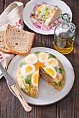 Pork jelly with boiled eggs