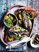 Sardine and Golden Tomato Bruschetta