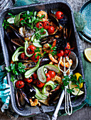 Roasted Middle Eastern Mix Seafood
