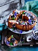 Whole Lemon and Blueberry Cake with Blueberry Honey