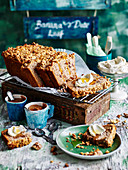 Banana Date Loaf with Honey Spiced Labne