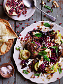 Persian Quail, Fig and Pomegranate Salad