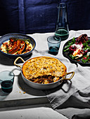 Lamb, fennel and Manchego pie with lard pastry
