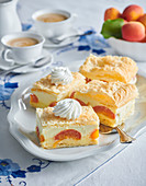 Pudding and apricot cuts
