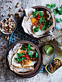 Asian-Style Fried Eggs with Peanut Sambal