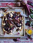 Roast Beetroot, Garlic and Chia Tart
