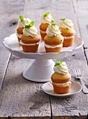Joghurtmuffins mit Zitronencreme