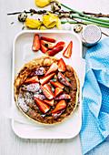 Spring pancake bake with strawberries