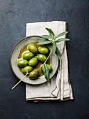 Olives, olive oil and olive branch