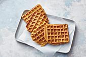 Crispy sweet potato waffles