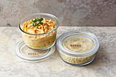 Möhren-Ingwer-Curry mit Hirse 'To Go'