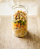 Vegan chickpea and couscous salad