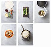 Mexikanische Zucchini-Paprika-Quesadillas mit Kidneybohnen zubereiten